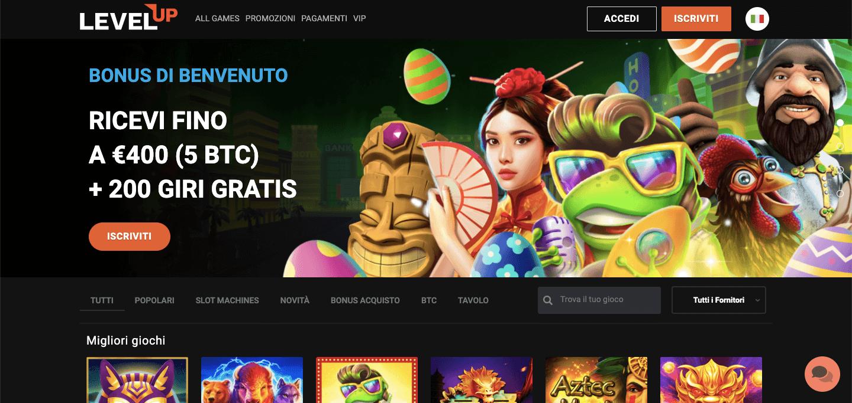 LevelUp Casino Screenshot