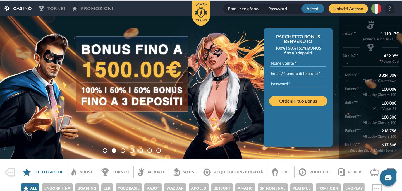 Power Casino Screenshot