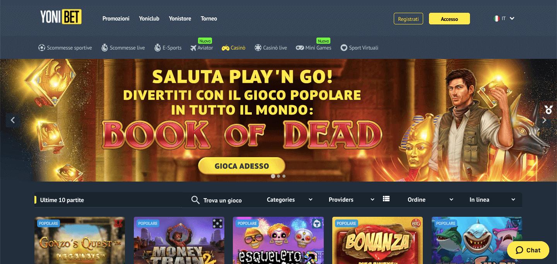 Yonibet Casino Screenshot