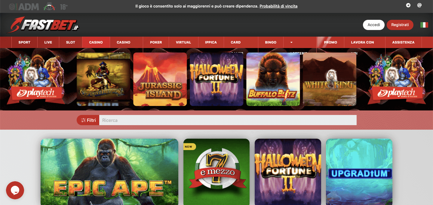 Fastbet Casino Screenshot