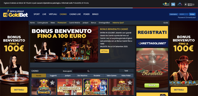 Goldbet Casino Screenshot