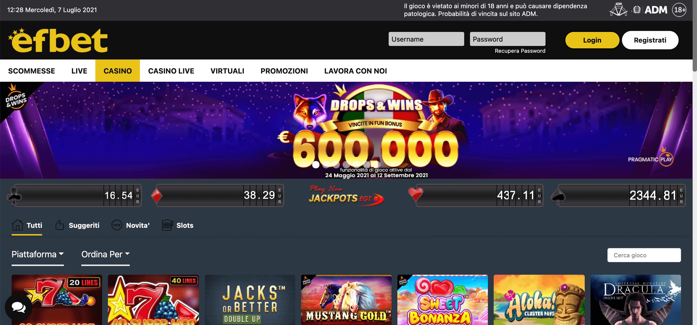 Efbet Casino Screenshot