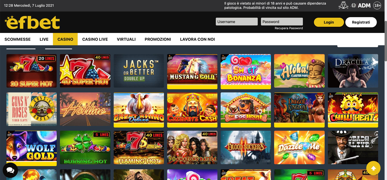 Efbet Casino Slot