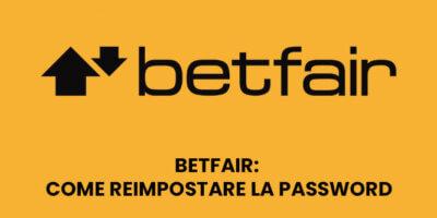 Betfair: Come reimpostare la password