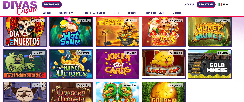 Divas Casino Slot