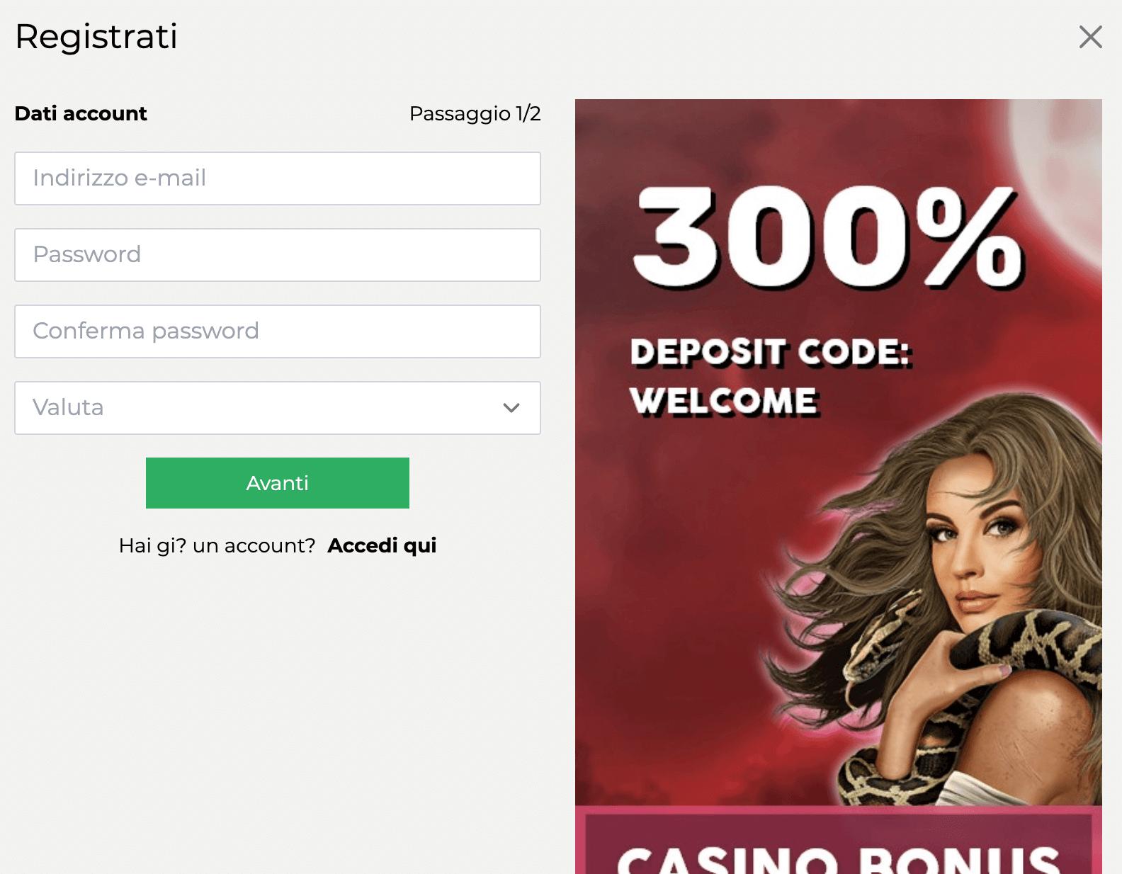 Linda's Slot Casino Registrazione
