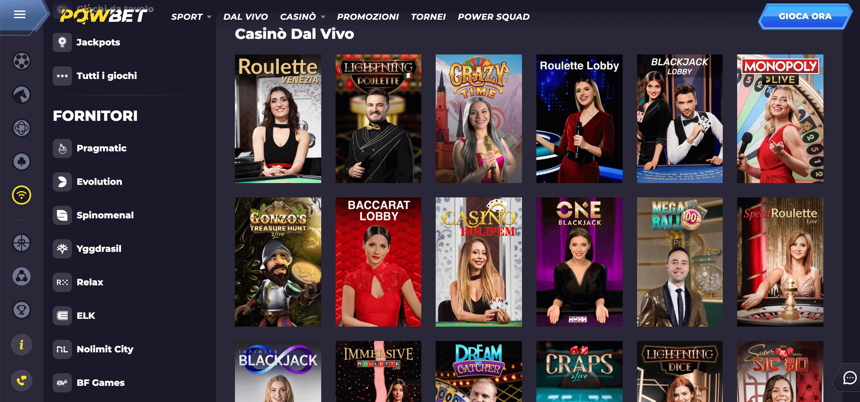 Powbet Casino Slo Live