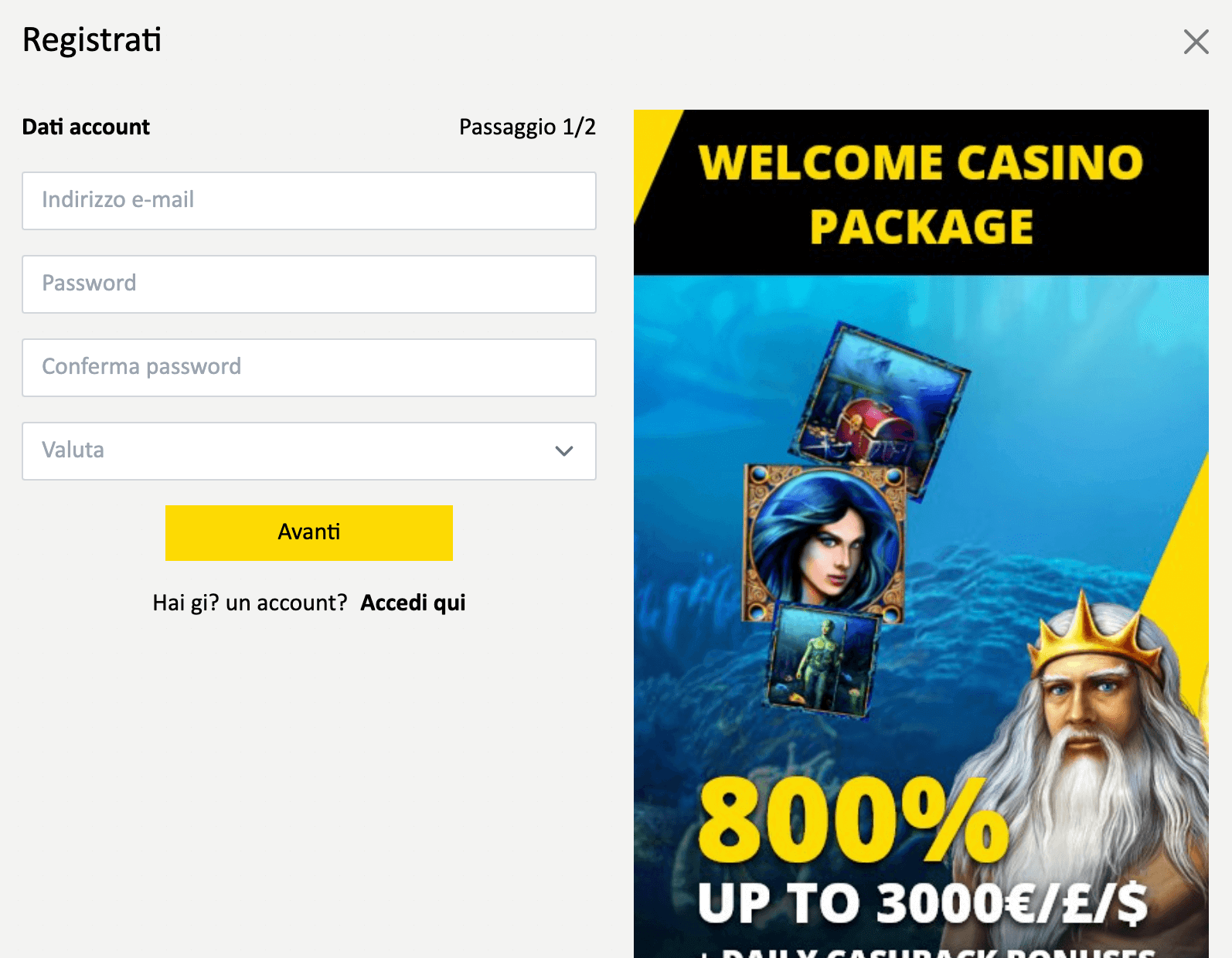 Slots N Bets Registrazione