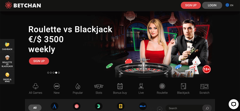 Betchan34 Casino Screenshot