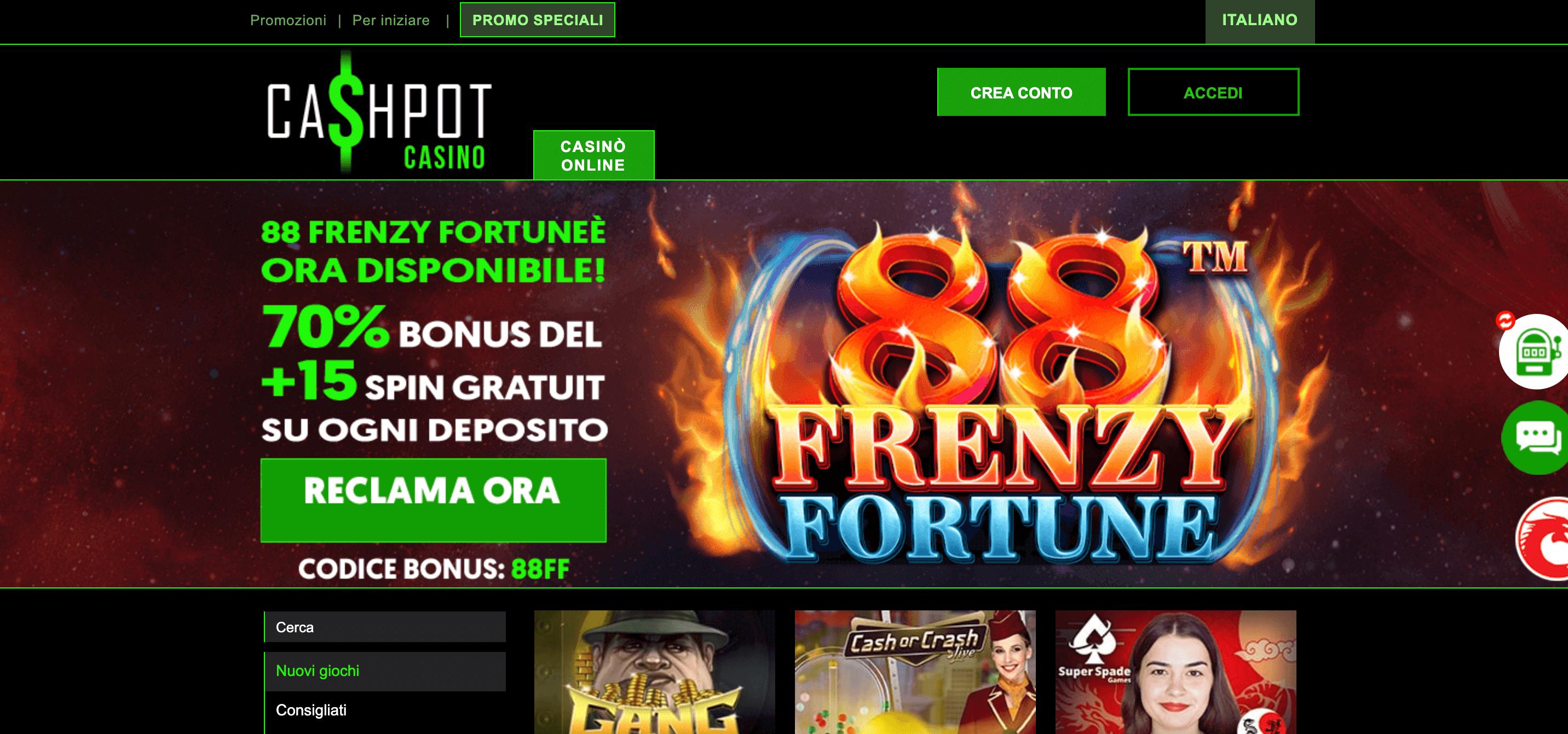 Cashpot Casino Screenshot