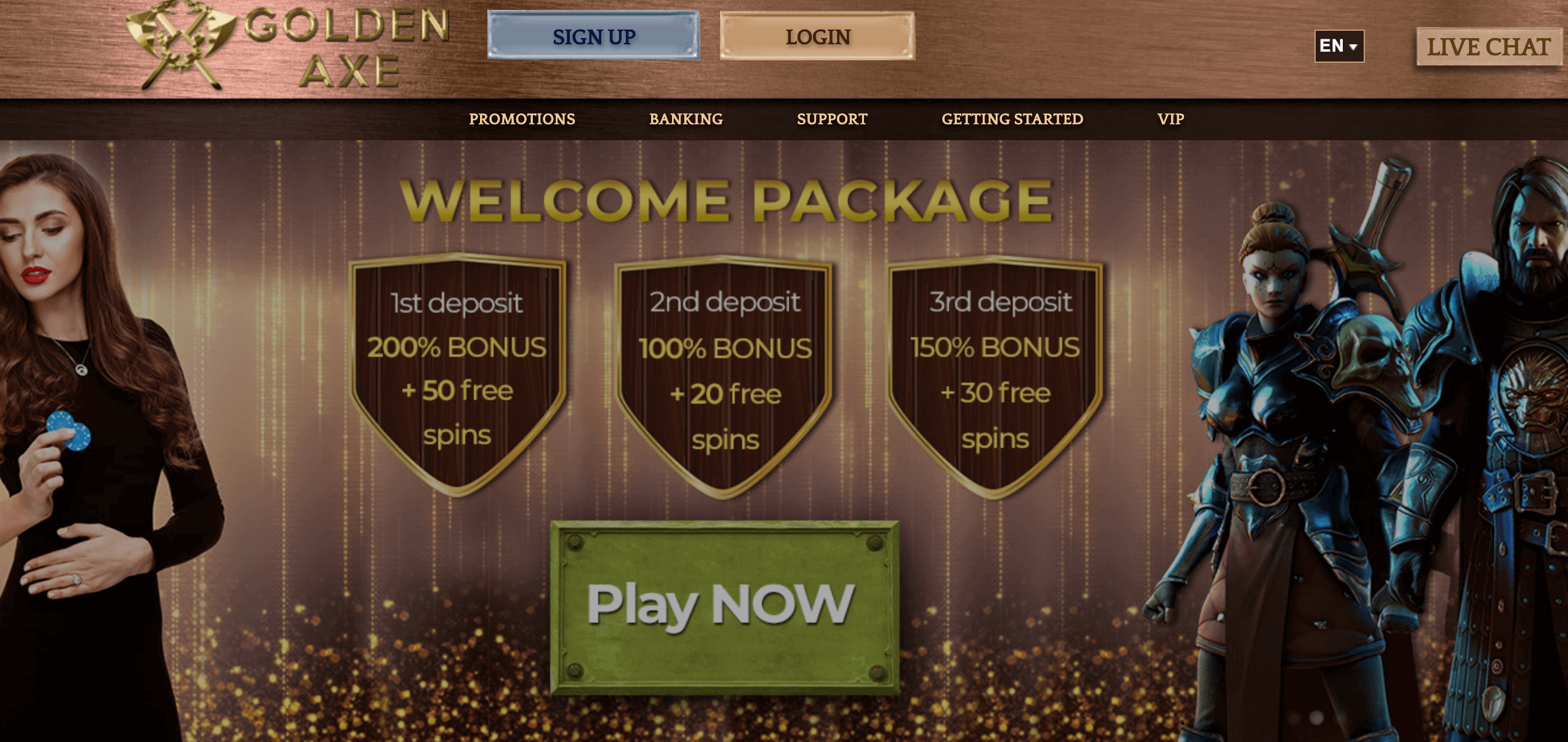 Golden Axe Casino Screenshot
