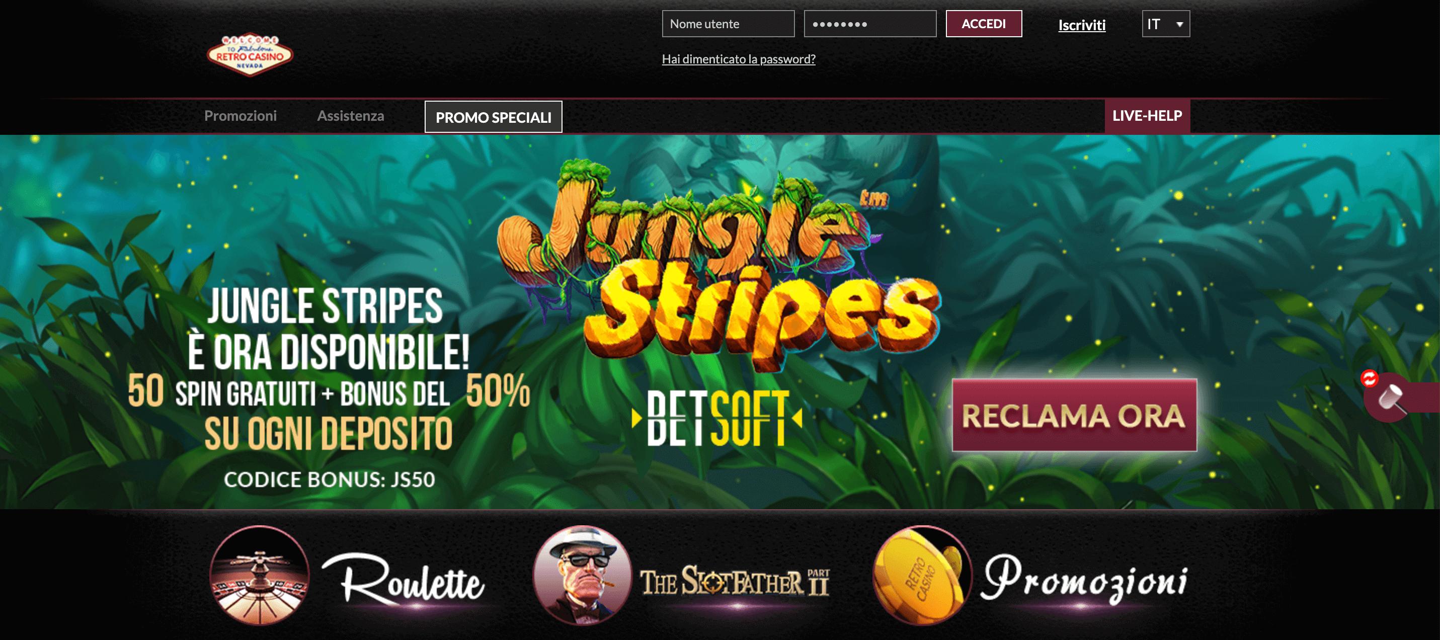 Retro Casino Screenshot